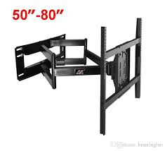 nb sp5 50 80 flat panel led lcd tv wall mount full motion heavy duty monitor holder 6 swing arms subwoofer cables tv electronics from brantingluo