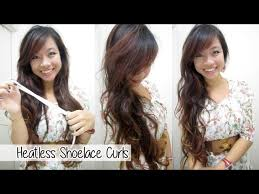 how to curl your hair with a shoelace