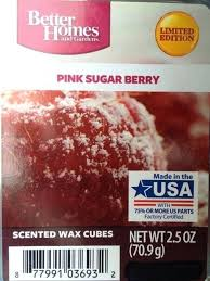 excellent better homes and gardens scented wax cubes better homes wax cubes pink sugar berry better