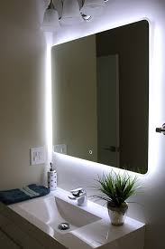 Interesting Idea Bathroom Illuminated Mirrors Amazon Com Windbay Backlit Led  Light Vanity Sink Mirror With Shaver Socket B Q Battery