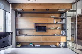 wooden office storage. View In Gallery Office Storage And Shelf Space With Floating Wooden Cabinets