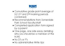 njhs somerdale park school njhs requirements