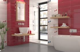 modern bathroom with ceramic tiles 3d model