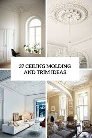 Molding For Living Room 37 Ceiling Trim And Molding Ideas To Bring Vintage Chic Shelterness