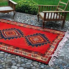 S Bright Red Rug Vintage Two Sided