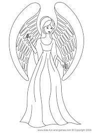 Free Angel Coloring Pages Letscoloringpagescom One Cute Angel