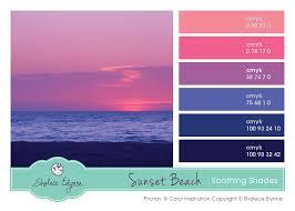 Pink Purple Blue Sunset Pallet Blue Color Schemes Beach
