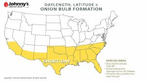 Onion Bulb Formation Daylength Latitude Map Of Long Day
