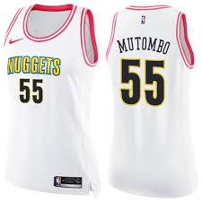 Dikembe White Mutombo Swingman pink Basketball Nuggets Cheap 55 Women's Jersey Fashion Denver