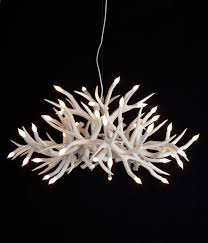 natural and contemporary residential and commercial interior lighting design ideas superordinate antler chandelier by jason