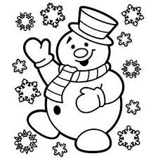 Small Picture Mr Snowman is Very Happy for Christmas Coloring Page Download