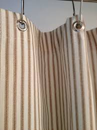 brown and blue shower curtain. ticking stripe shower curtain black, brown, grey, navy blue, red 72x72 custom sizes available brown and blue
