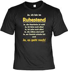 Lustige Rentner Sprüche Fun Tshirt Ja Ich Bin Im Ruhestand Ja Es