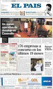 Newspaper El País (Uruguay). Newspapers in Uruguay. Friday's edition,  August 17 of 2018. Kiosko.net