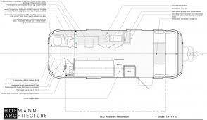 airstream floor plans. Airstream 1972 Renovation Floor Plan Labeled Plans E