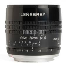 <b>Объектив Lensbaby Velvet 56</b> mm F/1.6 1:2 Macro Black for Micro 4 ...