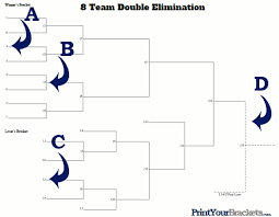 Double Elimination Tournament Brackets Printable