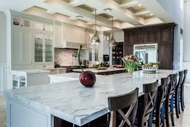 Kitchen Marble Floor Classic Galley Kitchen Design White Marble Floor Black Panel