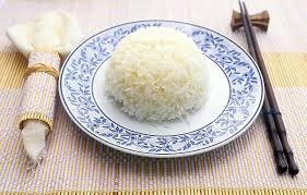steamed white rice. Plain White Inside Steamed White Rice I