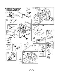 Briggs stratton model 310707 0137 e1 engine genuine parts