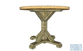 diy furniture plans build round dining table pedestal base image drawing