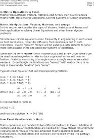 solve linear equations matrices math in this section we consider the topic of vectors matrices and