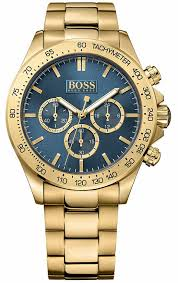 men s hugo boss ikon gold tone chronograph watch 1513340