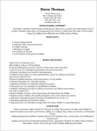 Welding Resume Examples New Welding Resumes Examples Professional Tig Welder Templates To