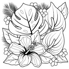 Flowers Coloring Pages Free Printable Coloring Rose Flower Coloring