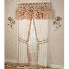image of country ruffled curtains and bedding