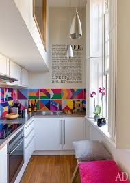 2 a very narrow space becomes larger than life with bright hues