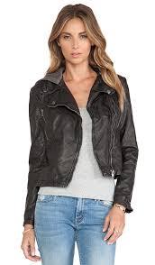 vegan leather hooded moto jacket