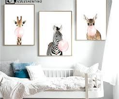 wall arts canvas wall art nursery baby boy born stats decor paper giraffe zebra animal