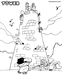 Small Picture Tower Coloring Pages For Of Babel Coloring Page itgodme