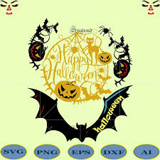 Remember to make your halloween wishes. Happy Halloween Svg Day Of The Dead Logo Happy Halloween Cut File Halloween Silhouette Halloween Vector