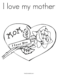 Small Picture I Heart Mom Coloring Pages For GirlsHeartPrintable Coloring