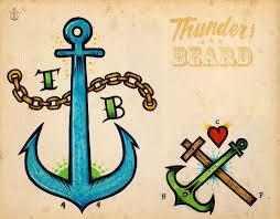 T B Anchors Con Tatuaggi Facili Da Disegnare E Anchora Boards 12 Con