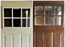 how to paint your steel door to look like wood