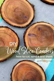 natural branch coasters how to cut