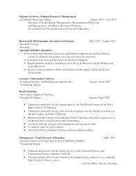 Sample Resume Librarian Keralapscgov
