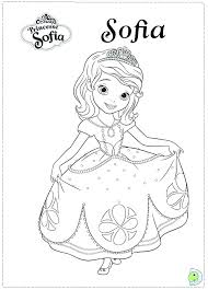 coloring pages the first printable sophia sofia free princess