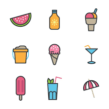 Summer Icons Outlined Summer Icons Free Stock Photo By Sara On