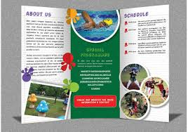 tri fold school brochure template camp brochure template save btsa co