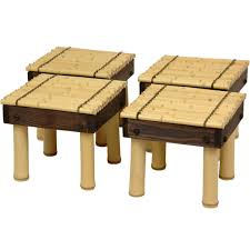 Coffee Table Stool Oriental Furniture Zen Bamboo Coffee Table With Four Stools