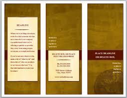 free microsoft word brochure templates tri fold brochure templatesbest business template template pinterest