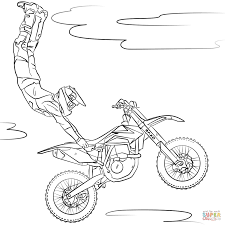 Drawn biker colouring page 65