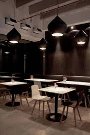 interior in black | Modern Restaurant in Black and White Colors ...