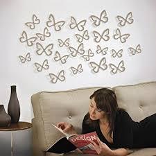 umbra wallflower wall decor white set: umbra wallflower set of  flitterbye wall daccor flowers