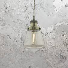 industrial champagne glass pendant light