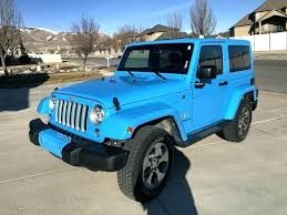 light blue jeep
